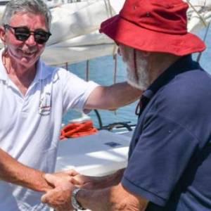 Moitessier's yacht Joshua unite with Knox-Johnston's Suhaili in Les Sables d'Olonne