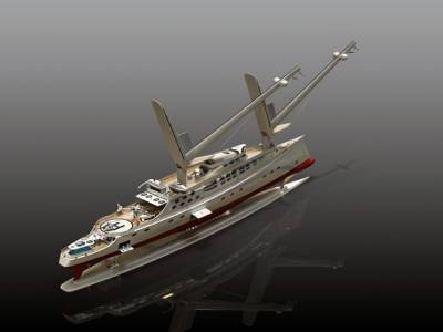 Solid sail explorer yacht unveiled