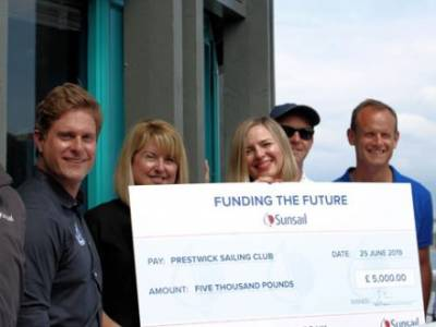 Sunsail selects Prestwick Sailing Club as 2018-19 Funding the Future winners