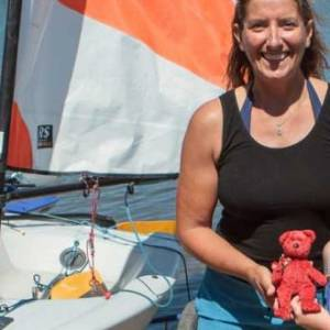 Dee Caffari supporting grass roots sailing
