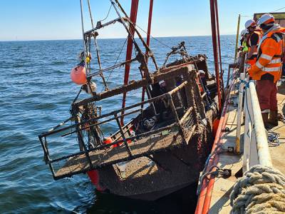 VIDEO: Fishing vessel Nicola Faith recovered from seabed