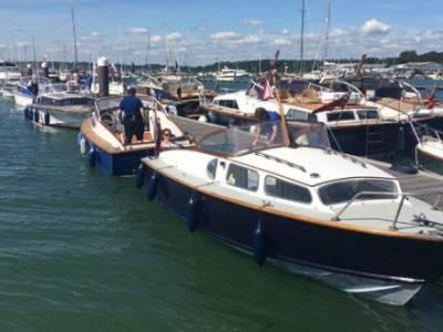 Hamble Point Marina hosts 60th Anniversary of the Fairey Huntress Motor Cruiser