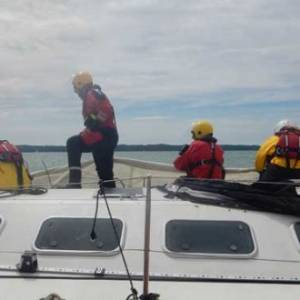 Cowes lifeboat joins rescue mission after yacht dismasting