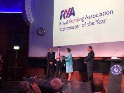 Lewis Haig named RYA Yachtmaster of the Year 2018