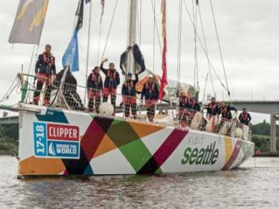 YOUNGEST EVER CLIPPER RACE SKIPPER LEADS SEATTLE TEAM TO VICTORY IN PENULTIMATE RACE