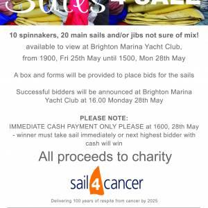 Sale of Sails at Brighton Marina Yacht Club!
