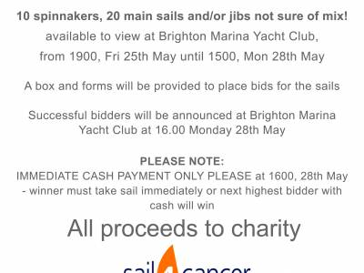 Sale of Sails at Brighton Marina Yacht Club!