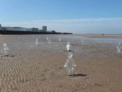 Ice sculptures, rescues and chaos on bank holiday beaches