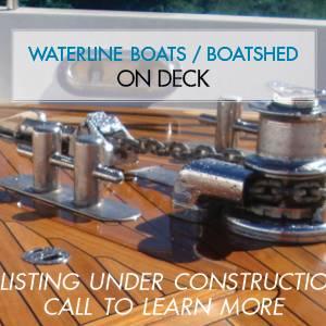 CHB 42 Tri-Cabin Trawler – On Deck At Waterline Boats Boatshed Seattle!