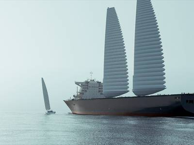 Michelin develops giant inflatable sails