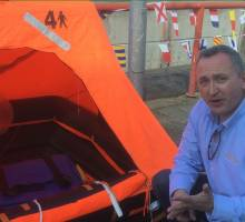 Want to see what happens when a life raft inflates? Watch this!