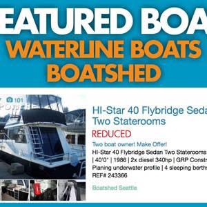 Waterline Boats / Boatshed Featured Boat – HI-Star 40 Sedan