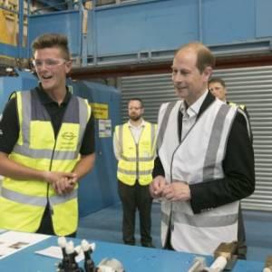 HRH The Earl of Wessex visits Sunseeker International