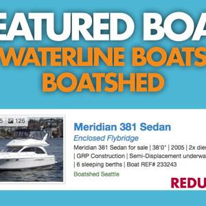 Waterline Boats / Boatshed Featured Boat - Meridian 381 Sedan