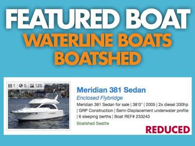 Waterline Boats / Boatshed Featured Boat - Meridian 381 Sedan