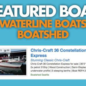Waterline Boats / Boatshed Featured Boat - Chris-Craft 36