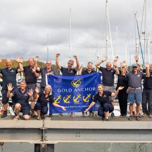 5 Gold Anchors awarded to Buckler's Hard Yacht Harbour