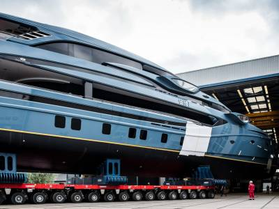 Royal Huisman's new 59m superyacht ready to launch