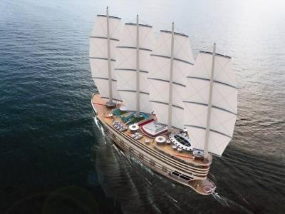 Futuristic sailing gigayacht concept unveiled