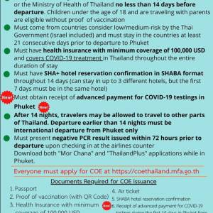 Latest requirements for traveling to Phuket