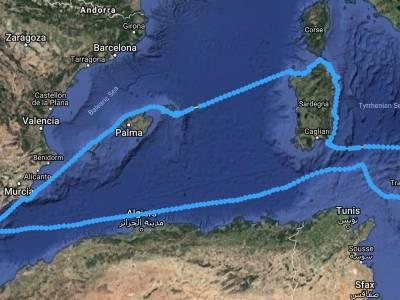 Sicily to Gibraltar Non-Stop.