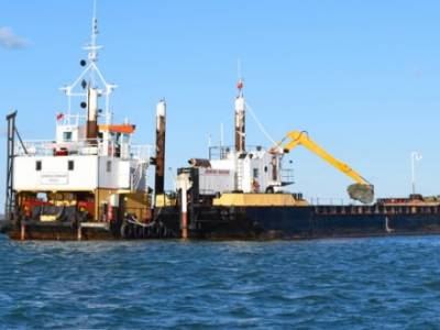 DREDGED EASTERN CHANNEL OPENS IN COWES HARBOUR
