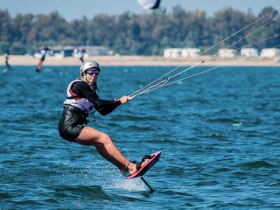 Ellie Aldridge wins Formula Kite European Championships