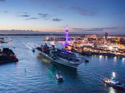 HMS Queen Elizabeth UK  heads on deployment after royal visit