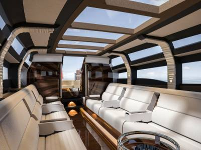 Wooden Boats creates tender with moving deckhouse