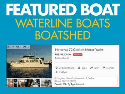 Waterline Boats / Featured Boat - Hatteras 72 CPMY