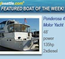 Featured Boat of the Week - 48' Ponderosa Cockpit Motor Yacht!