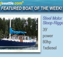 Featured Boat of the Week - Steel Motor Sailer!