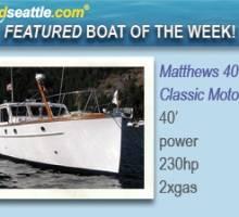 Featured Boat of the Week - Matthews 40 Sedan Classic Motor Yacht!