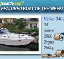 Featured Boat of the Week - Rinker 340 Fiesta Vee