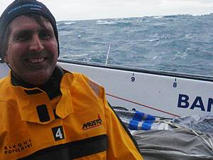 FOUR LAPS OF THE PLANET AND A WORLD SPEED RECORD FOR   BRITISH YACHTSMAN BRIAN THOMPSON
