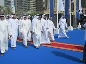 Sheikh opens the Dubai boat show 2012