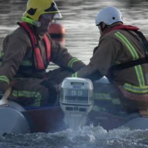 Wroxham Fire Fighters take to the water