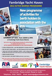 RYA Active Marina Launch: This Weekend!