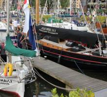 Historic Yachts displayed in London