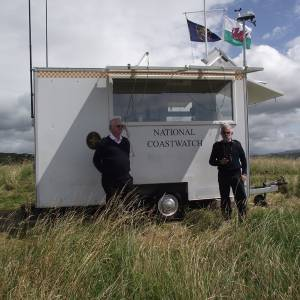 National Coastwatch Institution Mobile Station at Morfa Bychan
