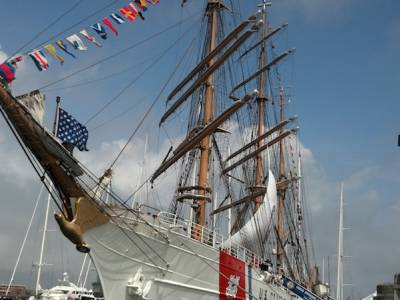 USCGC Eagle in Newport Rhode Island