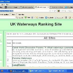Support the UK Waterways Ranking Site!