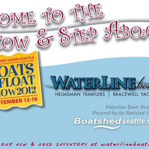 Trawlers at the 2012 Seattle Boats Afloat Show!