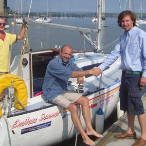 Boatshed Plymouth Helps Out on Mad-Cap Channel Voyage - All Support Gratefully Received