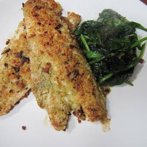 From the Galley - Sea Bass with a Sage & onion crust