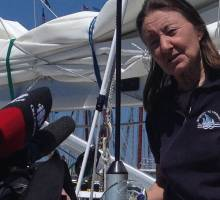 Jeanne Socrates NEW WORLD RECORD: Non stop solo around the world