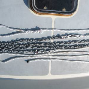 Anti-chafe mooring line