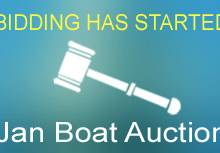 The boat auction has started, Bidding has begun