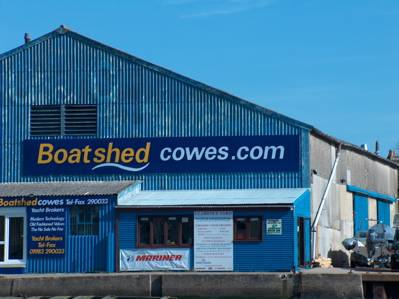Boatshed Cowes - can it be seen from space?