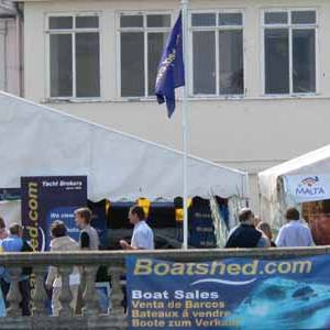 Boatshed Hamble at Cowes Power Boat Weekend
